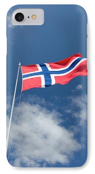 Norway, Bergen Norway Flag IPhone Case by Cindy Miller Hopkins