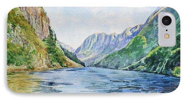 Norway Fjord IPhone Case by Irina Sztukowski