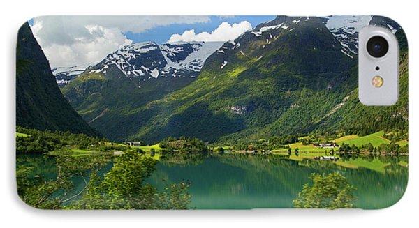 Norway Lake Floen IPhone Case by Kymri Wilt