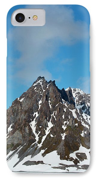 Norway Svalbard Hornsund Heavily Eroded IPhone Case by Inger Hogstrom