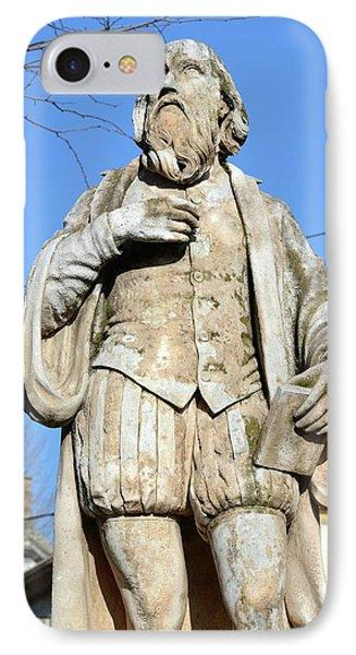 Nostradamus Statue IPhone Case by Chris Hellier