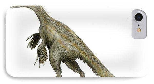 Nothronychus Dinosaur IPhone Case by Nobumichi Tamura