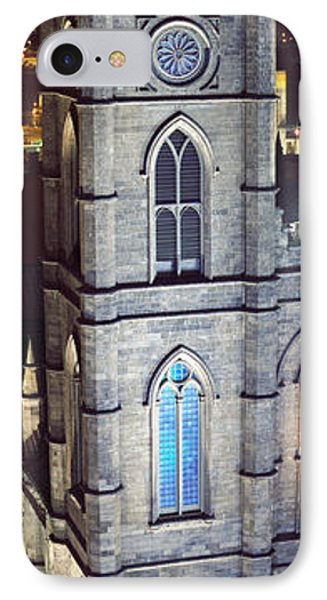 Notre Dame De Montreal At Night IPhone Case by Panoramic Images