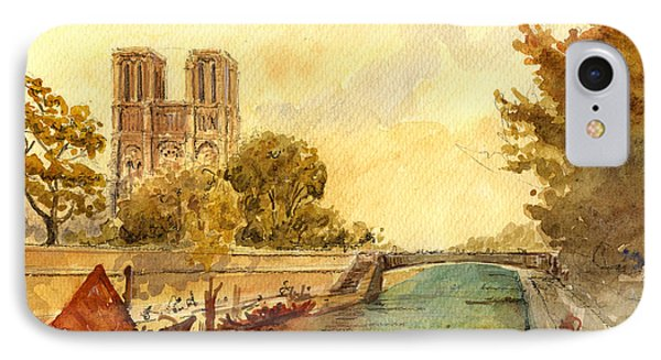 Notre Dame Paris. IPhone Case by Juan  Bosco