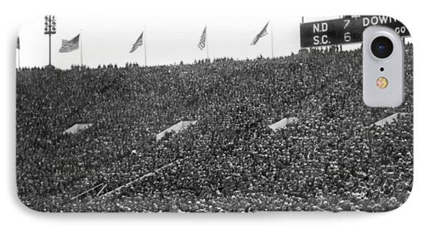 Notre Dame-usc Scoreboard IPhone 7 Case by Underwood Archives