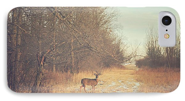 November Deer IPhone 7 Case by Carrie Ann Grippo-Pike