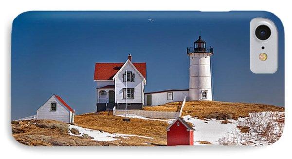 Nubble Lighthouse 3 IPhone Case by Joann Vitali