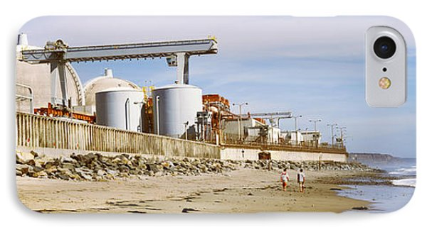 Nuclear Power Plant On The Beach, San IPhone Case by Panoramic Images