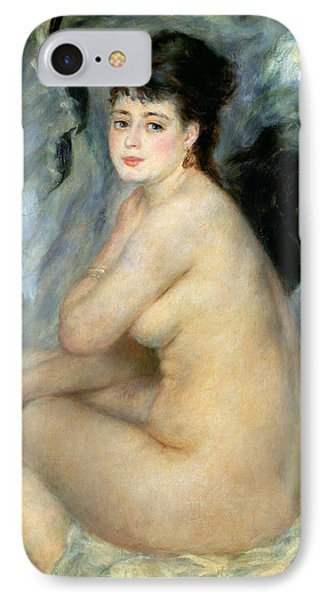 Nude Or Nude Seated On A Sofa 1876 IPhone Case by Pierre Auguste Renoir