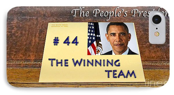 Number 44 - The Winning Team IPhone 7 Case by Terry Wallace