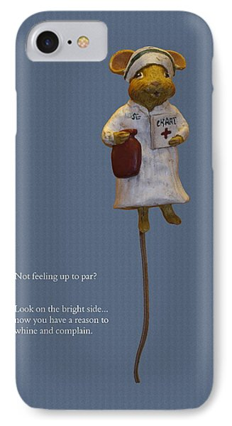 Nurse Mouse Phone Case by Sally Weigand