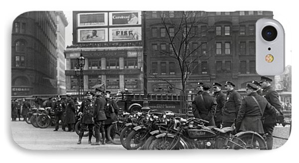 Ny Motorcycle Police IPhone Case by Underwood Archives