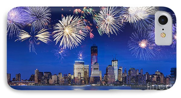 Nyc Fireworks IPhone Case by Delphimages Photo Creations