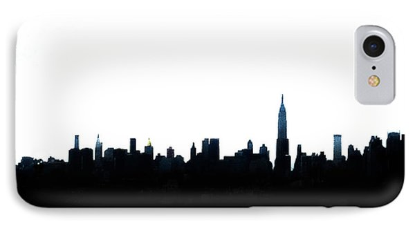 Nyc Silhouette IPhone 7 Case by Natasha Marco