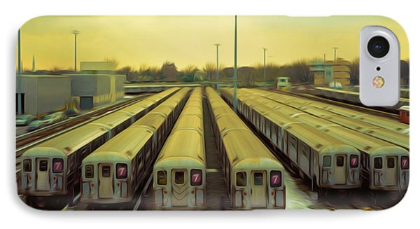 Nyc Subway Cars IPhone Case by Lanjee Chee