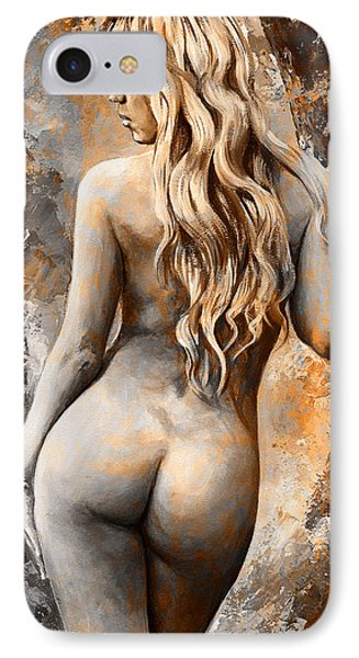 Nymph 02 - Digital Colored Rust IPhone Case by Emerico Imre Toth