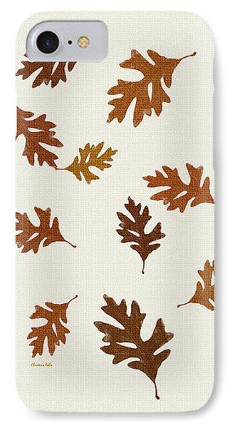 Oak Leaves Art IPhone Case by Christina Rollo