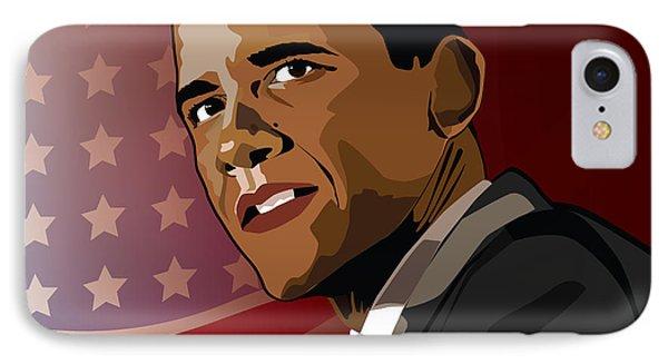 Obama Pop Art IPhone Case by Sandi Fender