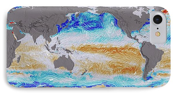 Ocean Surface Co2 And Winds IPhone Case by Nasa's Scientific Visualization Studio