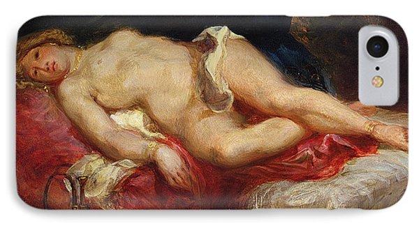 Odalisque IPhone Case by Ferdinand Victor Eugene Delacroix
