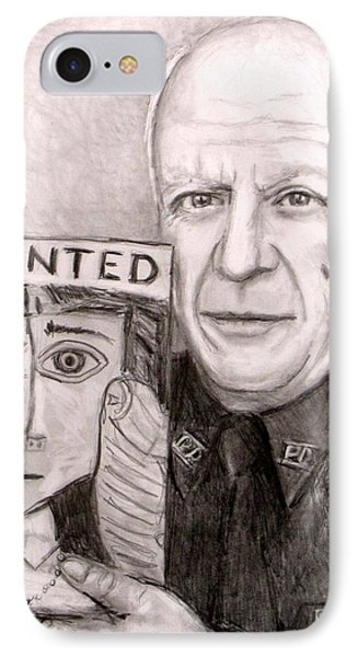 Officer Picasso Police Sketch Artist IPhone Case by Jack Skinner