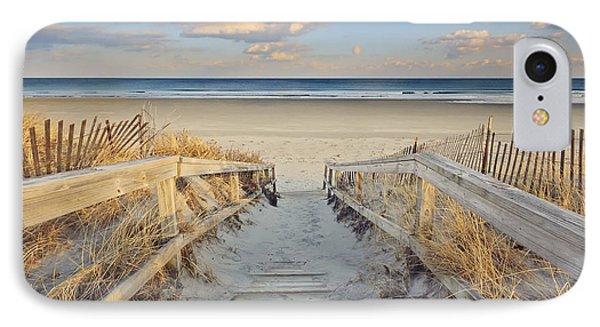 Ogunquit Beach Boardwalk IPhone Case by Katherine Gendreau