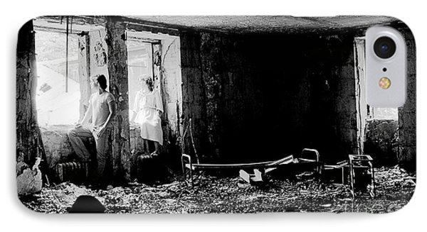 Oheka Castle Basement 1980 Phone Case by Ed Weidman