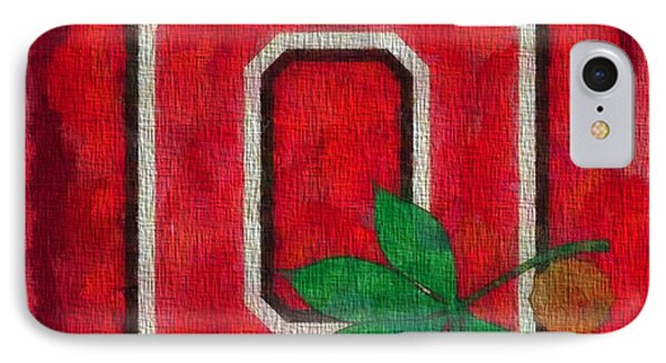 Ohio State Buckeyes On Canvas IPhone Case by Dan Sproul