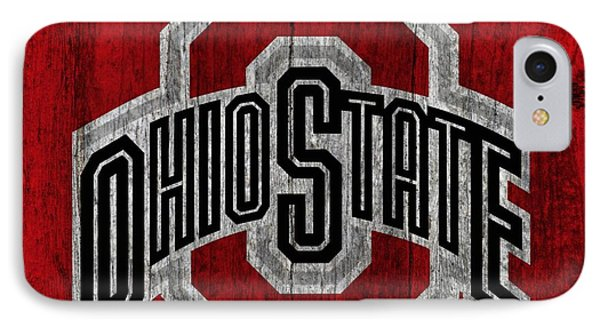 Ohio State University On Worn Wood IPhone Case by Dan Sproul
