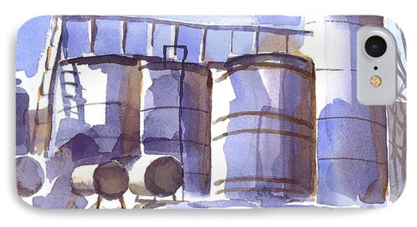 Oil Depot In April Phone Case by Kip DeVore