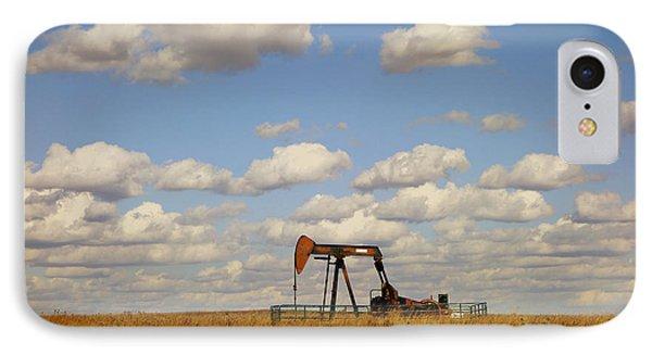 Oil Pump Jack On The Prairie IPhone Case by Ann Powell