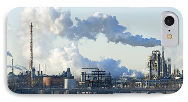 Oil Refinery At The Waterfront IPhone Case by Panoramic Images