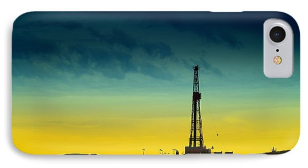 Oil Rig In The Spring IPhone Case by Jeff Swan
