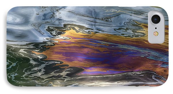 Oil Slick Abstract IPhone Case by Sheldon Kralstein