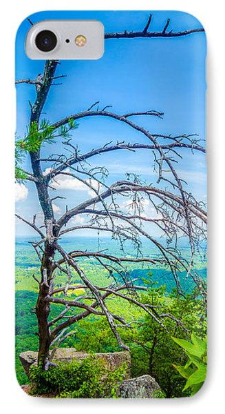 Old And Ancient Dry Tree On Top Of Mountain IPhone Case by Alex Grichenko