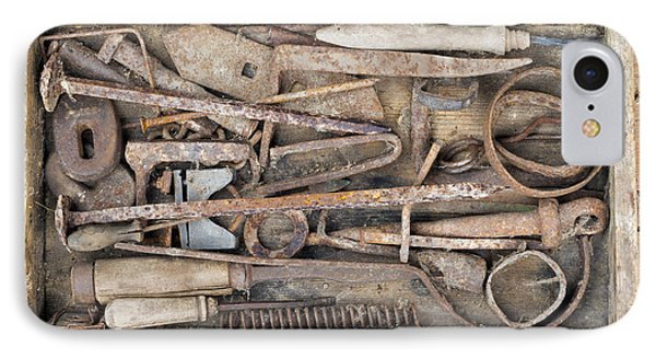 Old And Rusty Hand Tool IPhone Case by Michal Boubin