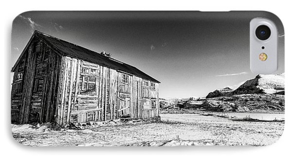 Old Barn Fredvang IPhone Case by Janet Burdon