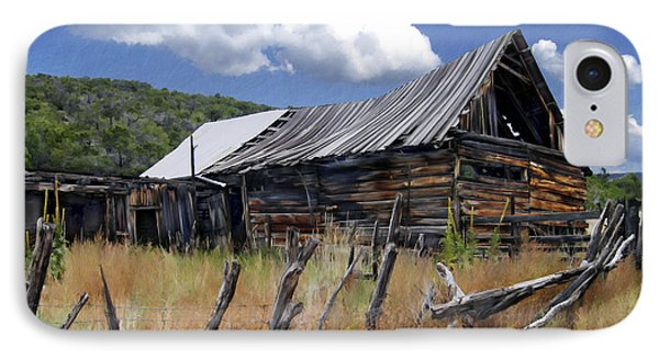 Old Barn Las Trampas New Mexico IPhone Case by Kurt Van Wagner