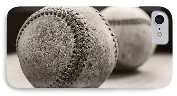 Old Baseballs IPhone 7 Case by Edward Fielding