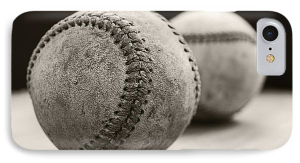 Old Baseballs IPhone Case by Edward Fielding