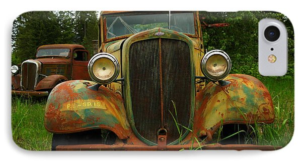 Old Cars Left To Decorate The Weeds Phone Case by Jeff Swan