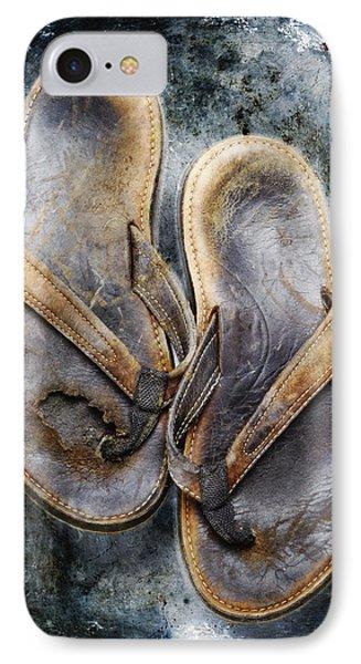 Old Flip Flops Phone Case by Skip Nall