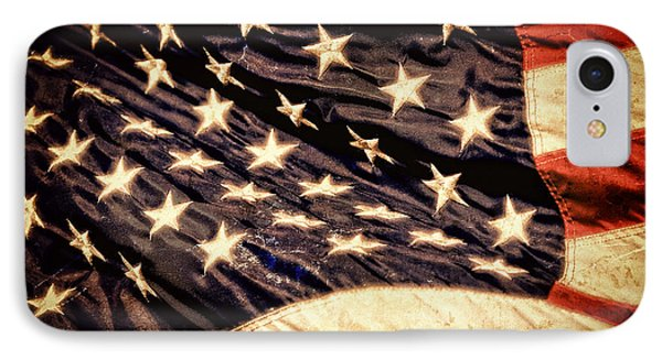 Old Glory Perseveres IPhone Case by Lincoln Rogers
