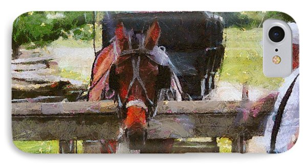 Old Man And His Horse IPhone Case by Dan Sproul