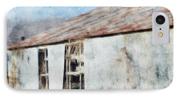 Old Metel Shed Painted Effect Phone Case by Debbie Portwood
