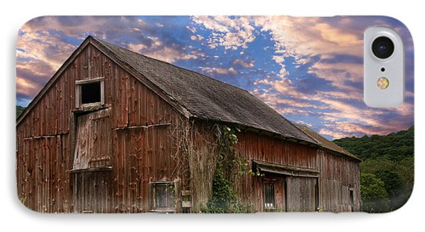 Old New England Barn IPhone Case by Bill Wakeley