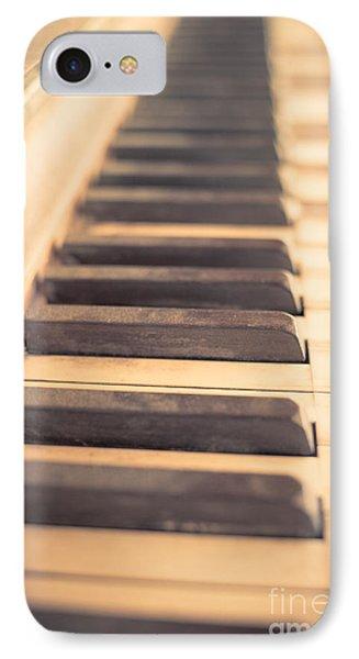 Old Piano Keys Phone Case by Edward Fielding