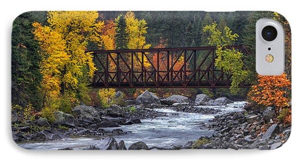 Old Pipeline Bridge IPhone Case by Mark Kiver