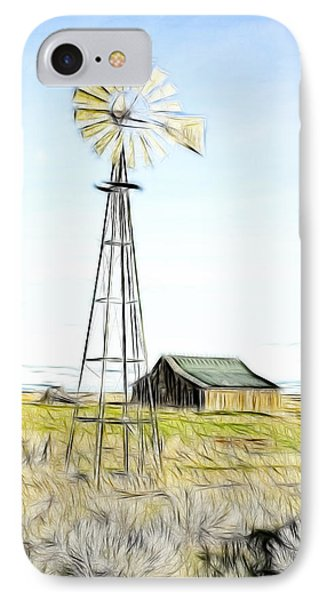 Old Ranch Windmill Phone Case by Steve McKinzie