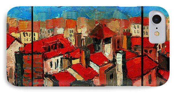Old Roofs Of Lyon IPhone Case by Mona Edulesco